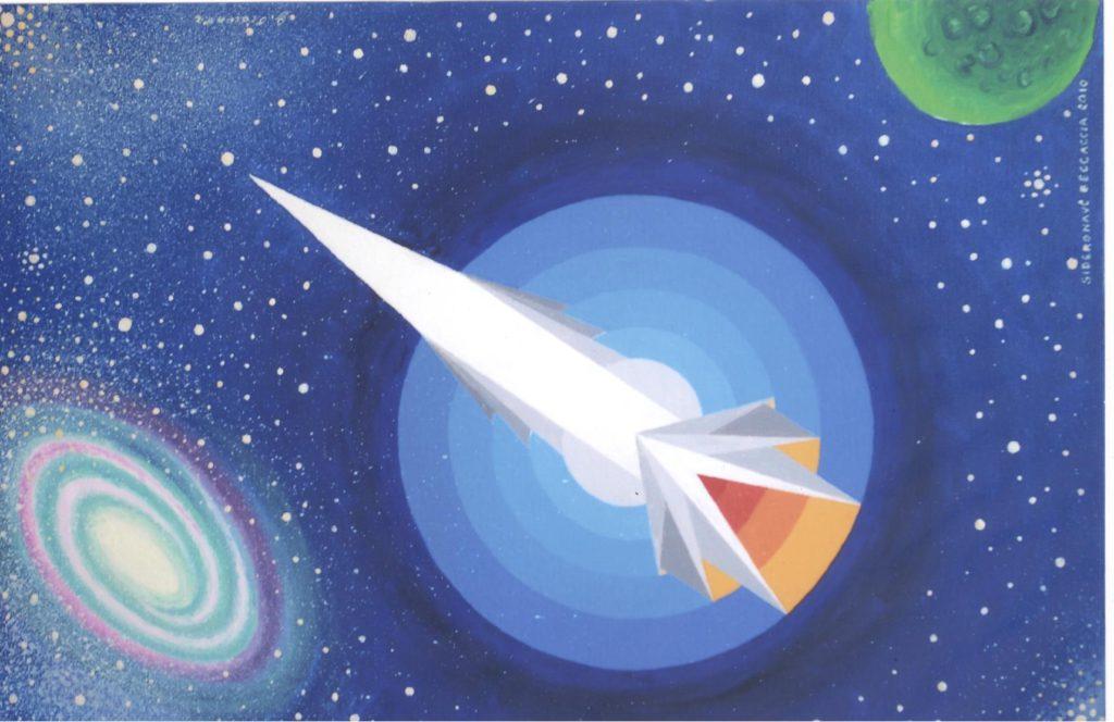 'Astronave Beccaccia', acrilico su tela, cm 40x60, 2010 € 2.600