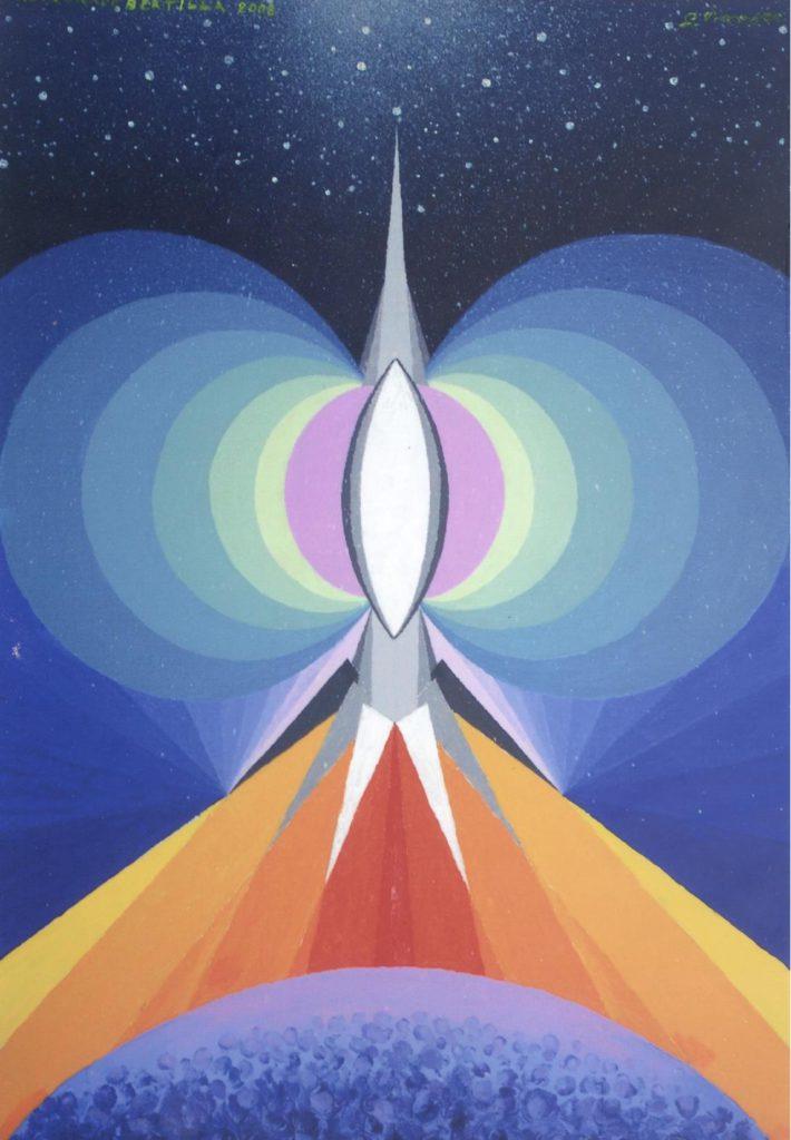 'Astronave Bertilla', arilico su tela, cm 50x70, 2008 € 4.300