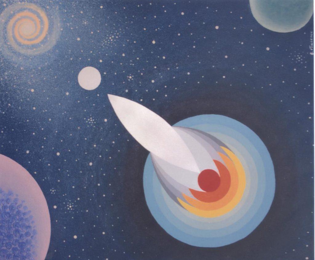 'Astronave Gisella', acrilico su tela, cm 50x60, 2012 € 2.600