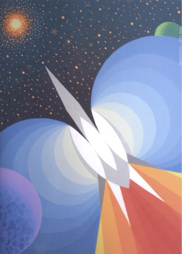 'Astronave Oca', acrilico su tela, cm 50x70, 2010 € 5.000