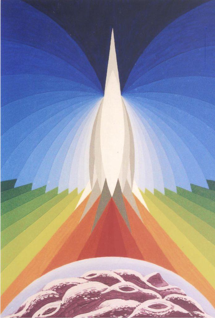 'Astronave Quaglia', olio su tela, cm 50x70, 1999 € 3.800