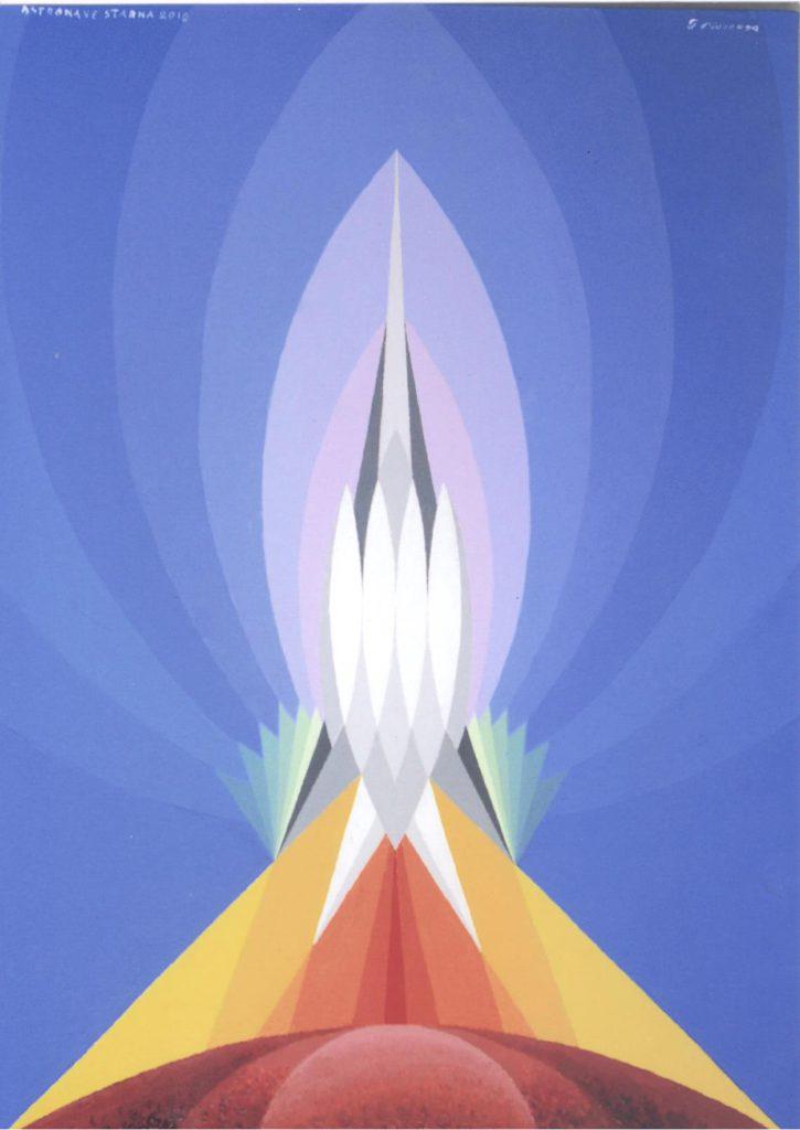'Astronave Starna', acrilico su tela, cm 50x70, 2012 € 5.000