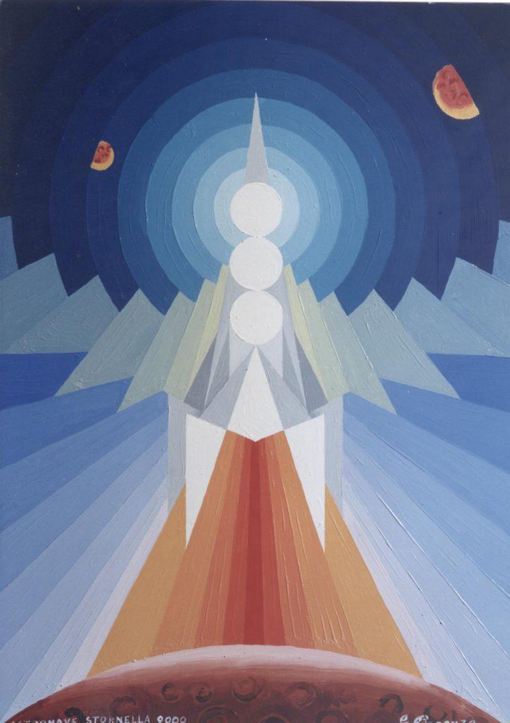 'Astronave Stornella', olio su tela, cm 50x70, 2000 € 3.000