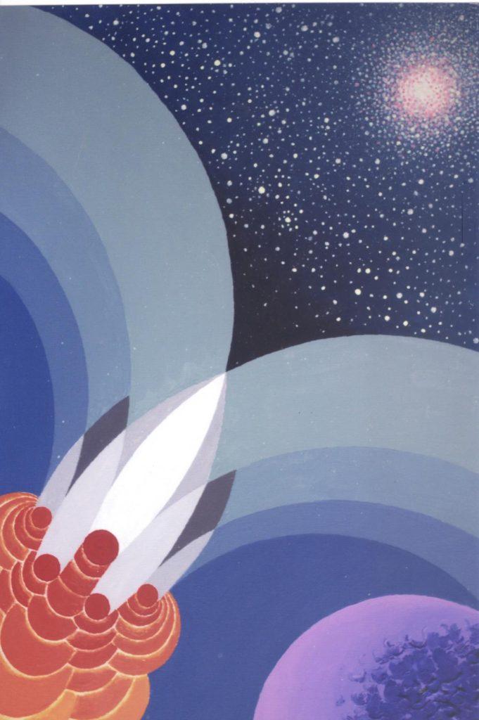 'Astronave Venusia', acrilico su tela, cm 50x70, 2009 € 4.000