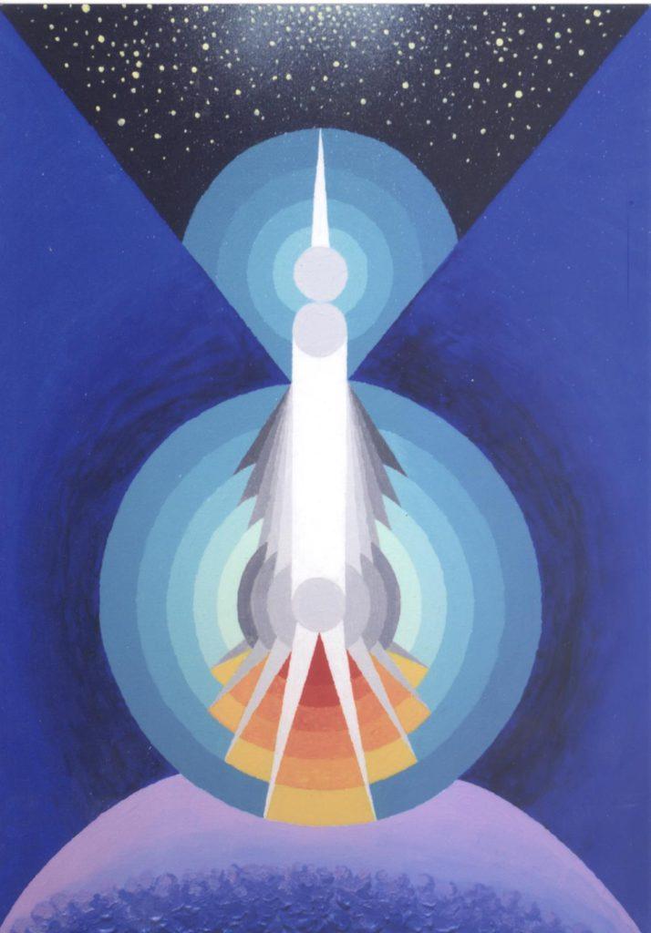 'Astronave Zita', acrilico su tela, cm 50x70, 2009 € 3.000