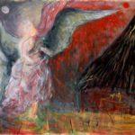 ANGELO DI FUOCO  tecnica mista su cartone telato  cm 70 x 100 Anno 2005 € 2500