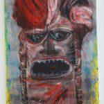 MASCHERA ROSSA tecnica mista su tela  cm 70 x 135 anno 2011 € 3000